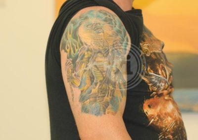 New-coloured-Iron-Maiden-tattoo-over-old-tattoo